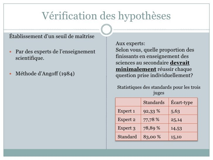 L'expérimentation (réalisée à Montréal, 2006)<br />Question: les futurs enseignants de science sont-il s en mesure d'inter...