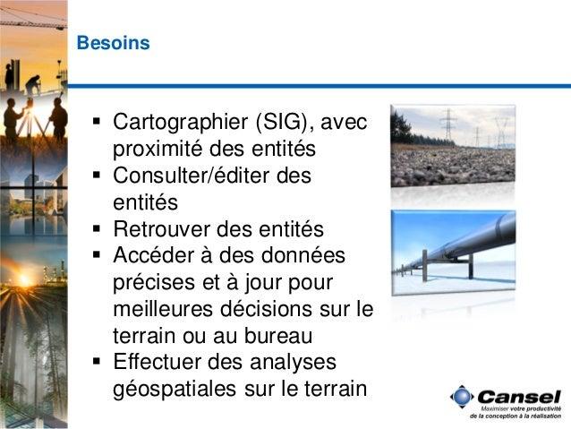Solutions géospatiales mobiles pour décisions d'affaire Slide 3