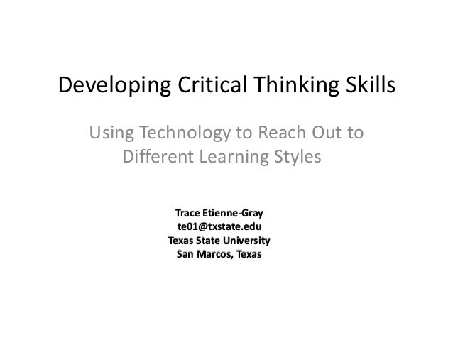 university of phoenix material strategies to develop critical thinking Student learning outcomes updated:  preview reading material using targeted strategies  critical thinking.