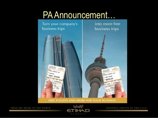etihad airways marketing mix case study Marketing mix of etihad airways analyses the brand/company which covers 4ps (product, price, place, promotion) and explains the etihad airways marketing strategy.