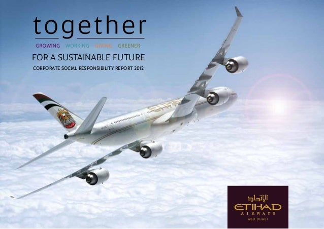 FOR A SUSTAINABLE FUTURE CORPORATE SOCIAL RESPONSIBILITY REPORT 2012