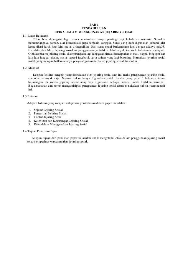 Etika Menggunakan Jejaring Sosial Paper