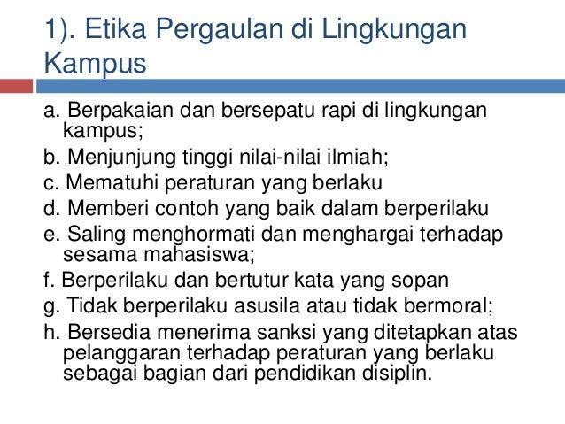 Contoh Etika Mahasiswa Feed News Indonesia
