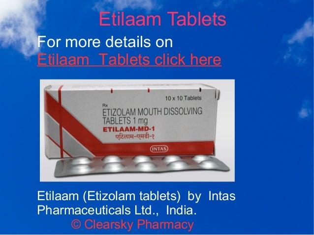 Etizolam Tablets (Etilaam)