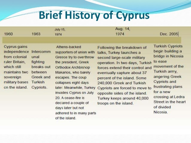 cyprus history of conflict essay The cyprus conflict in the context of international law of conflict in cyprus' semicentennial history of context of international law as a discipline.