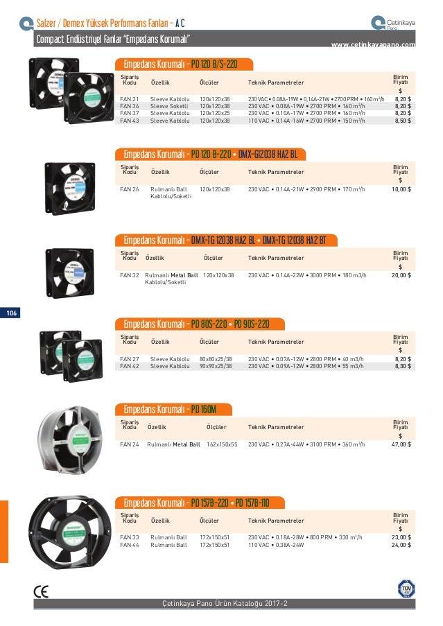 """ISO 9001 Salzer / Demex Yüksek Performans Fanları - D C Compact Endüstriyel Fanlar """"Empedans Korumalı"""" www.cetinkayapano.c..."""