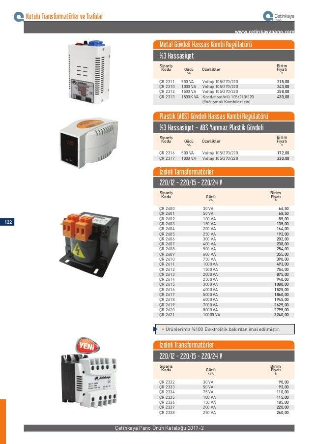 Çetinkaya Fiyat Listesi