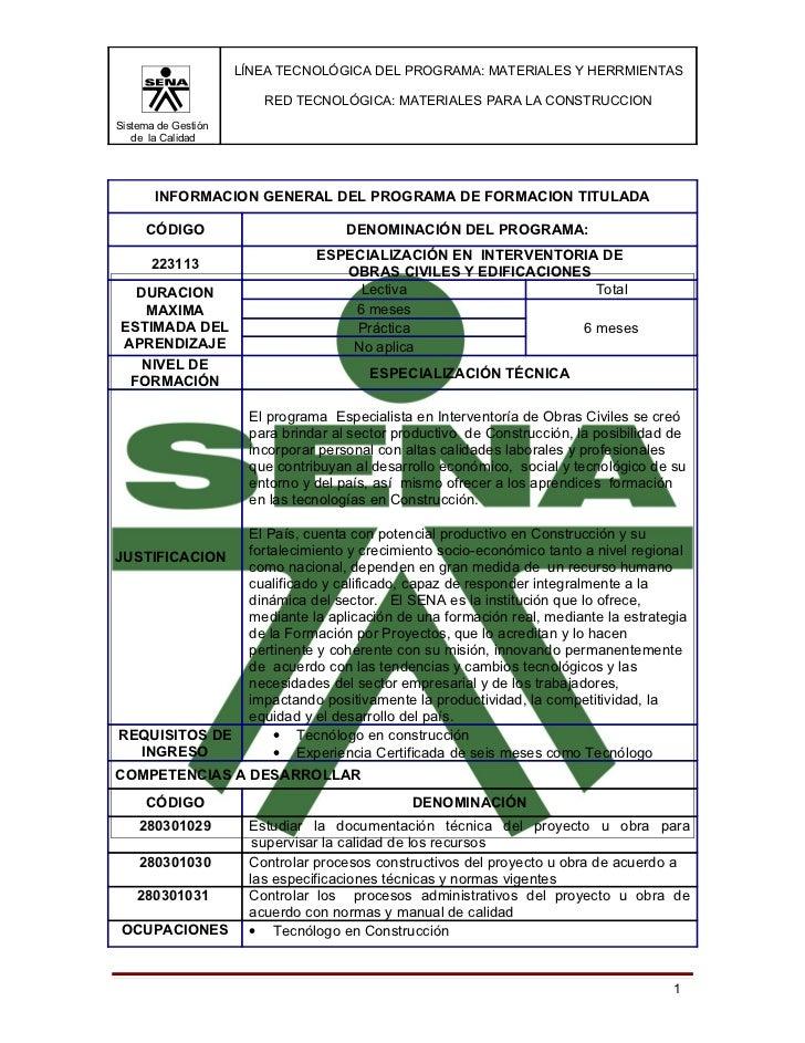LÍNEA TECNOLÓGICA DEL PROGRAMA: MATERIALES Y HERRMIENTAS                        RED TECNOLÓGICA: MATERIALES PARA LA CONSTR...