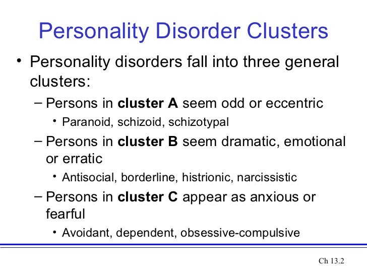 Quetiapine cluster b personality disorder - There are four