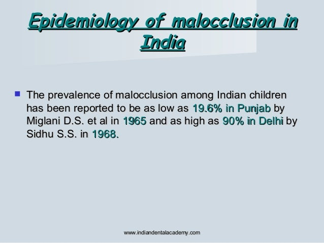  The prevalence of malocclusion among Indian childrenThe prevalence of malocclusion among Indian children has been report...