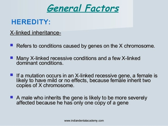 X-linked inheritance-X-linked inheritance-  Refers to conditions caused by genes on the X chromosome.Refers to conditions...
