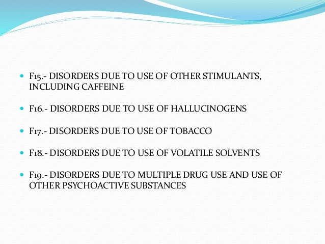 cocaine use disorder icd 10