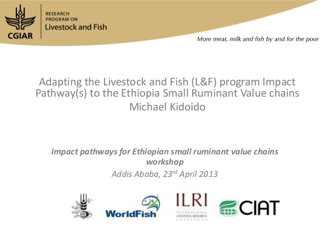 Adapting the Livestock and Fish (L&F) program ImpactPathway(s) to the Ethiopia Small Ruminant Value chainsMichael KidoidoI...