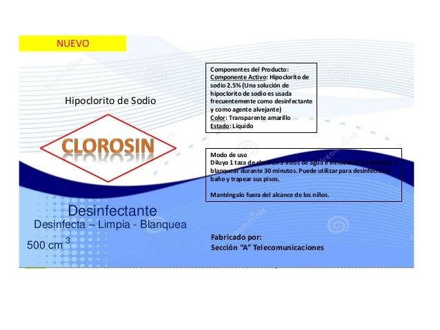 Etiqueta cloro jc for Hipoclorito de sodio para piscinas
