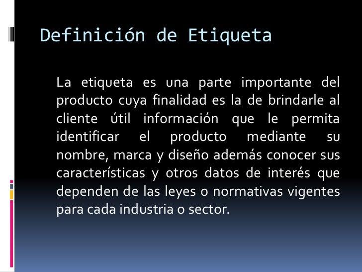 Etiqueta de un producto for Origen y definicion de oficina