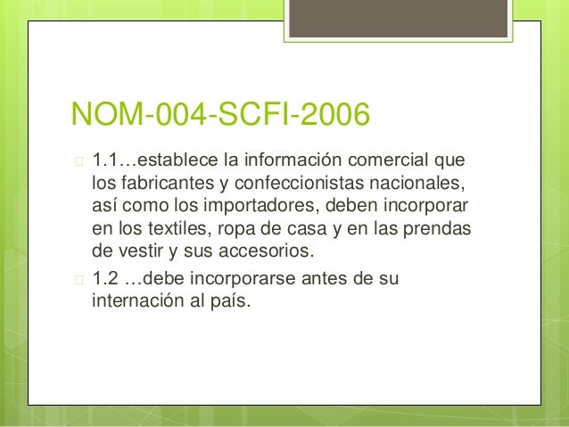 Resultado de imagen para NOM-004-SCFI-2006
