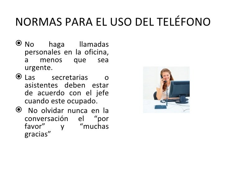 Etiqueta en el tel fono for Telefono de oficinas