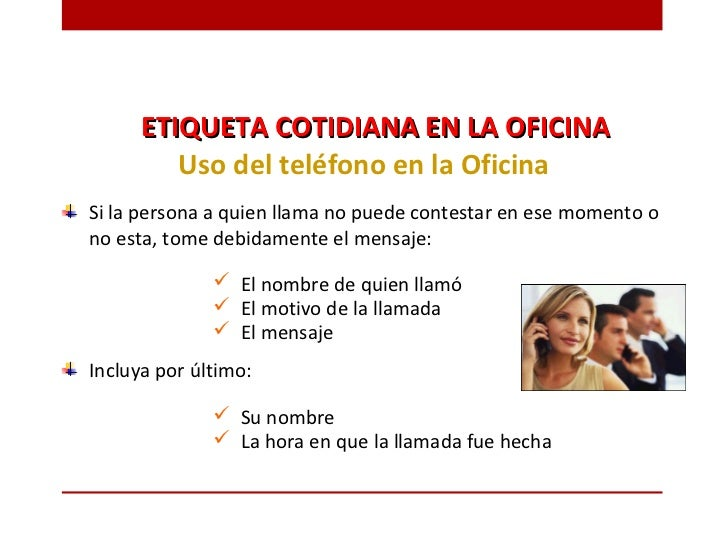 Etiqueta profesional for La oficina telefono