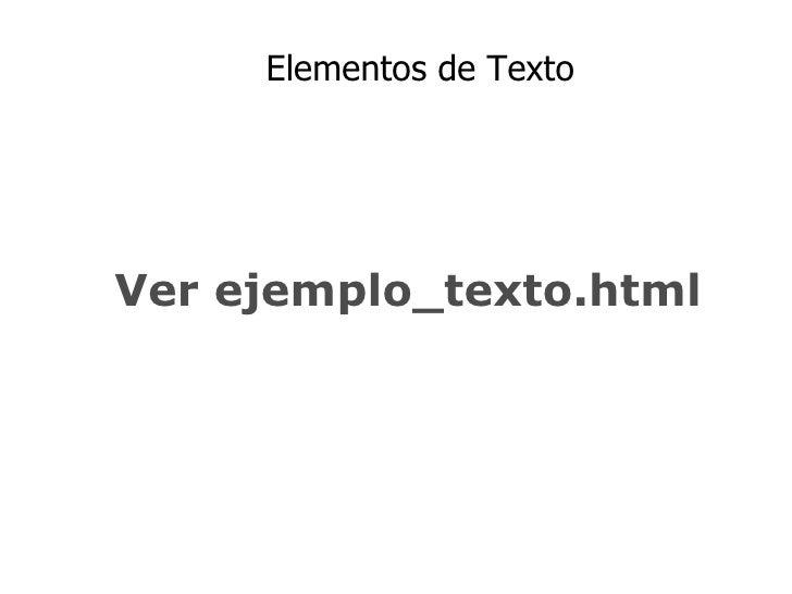 Etiquetas XHMTL Slide 3