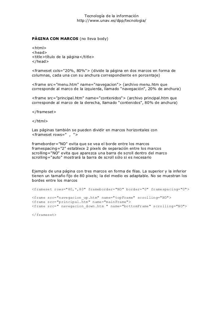 Etiquetas html 2