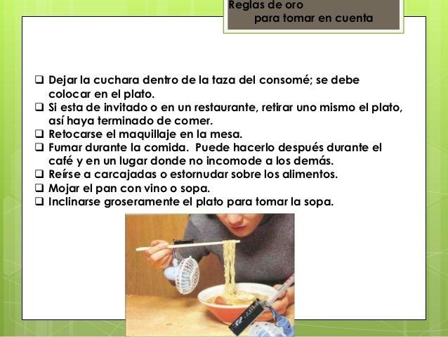 Etiqueta y protocolo for Cuchara para consome