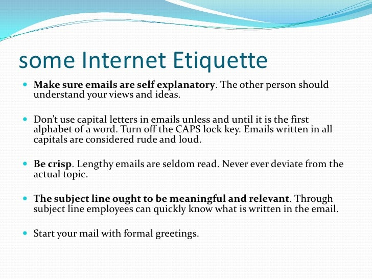 Online Email Dating Etiquette