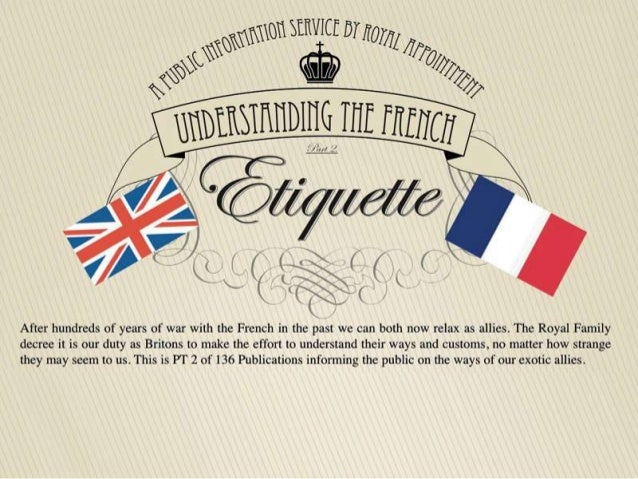 Understanding the French Etiquette