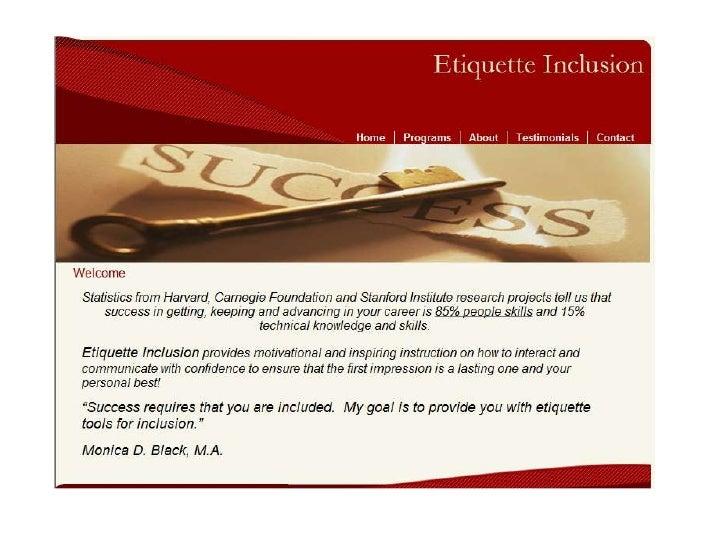 Etiquette Inclusion Website