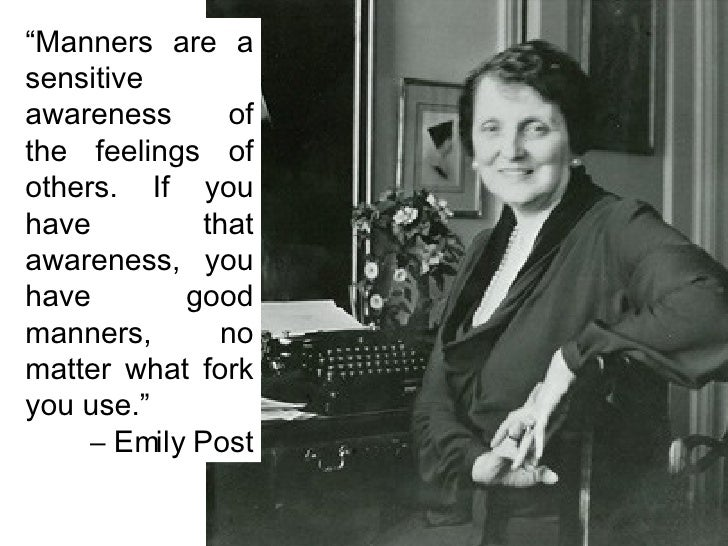 Ask Emily Post Etiquette: Manners Matter