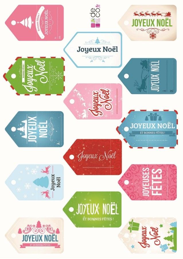 Des Etiquettes De Noel A Imprimer Femme Actuelle