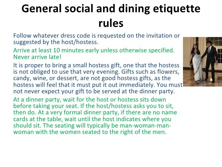 9 General Social And Dining Etiquette Rules