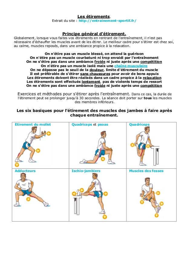 Très Exercices et méthodes pour s'étirer après l'entraînement PE21