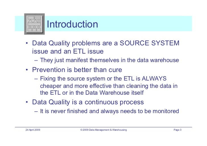 ETIS09 - Data Quality: Common Problems & Checks - Presentation
