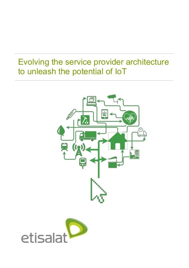 Evolving the service provider architecture to unleash the potential of IoT
