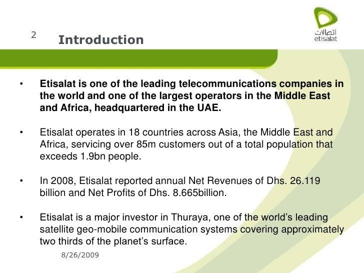 Etisalat Corporate Profile Slide 2