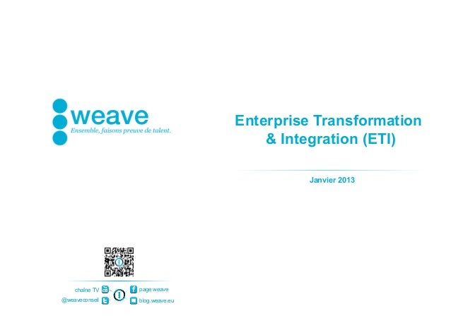 Enterprise Transformation                                    & Integration (ETI)                                         J...