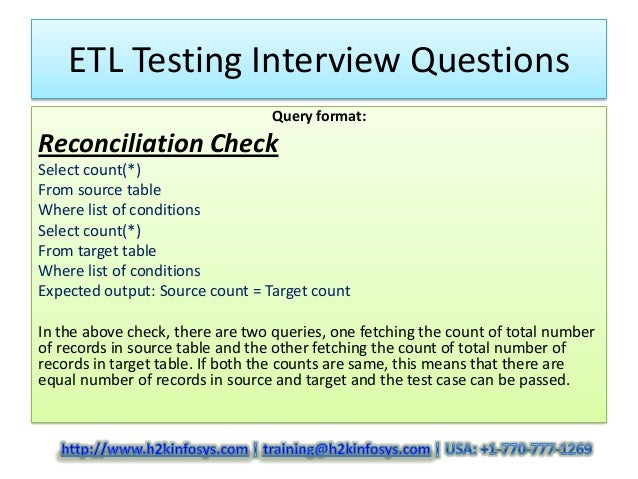 ETL Testing Interview Questions and Answers