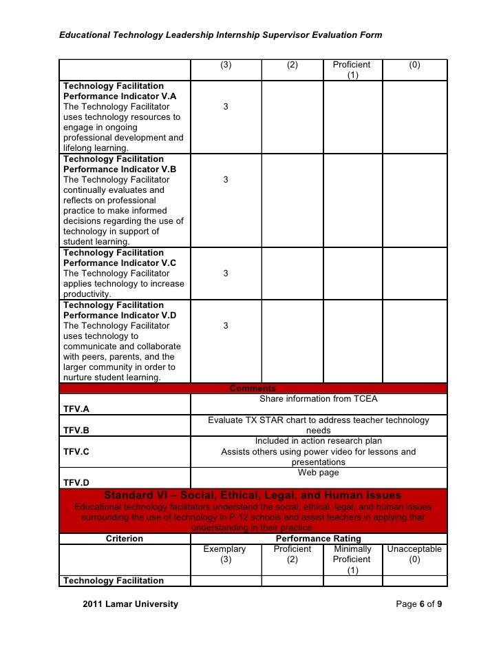 Etl intern supervevalsu211sigdoc completed – Leadership Evaluation Form