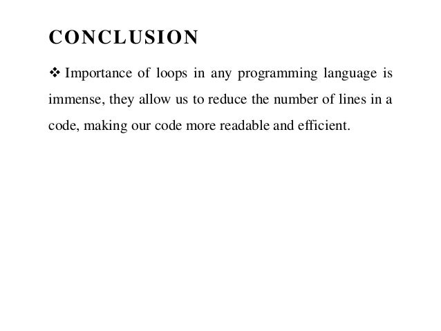 how to end a for loop in c