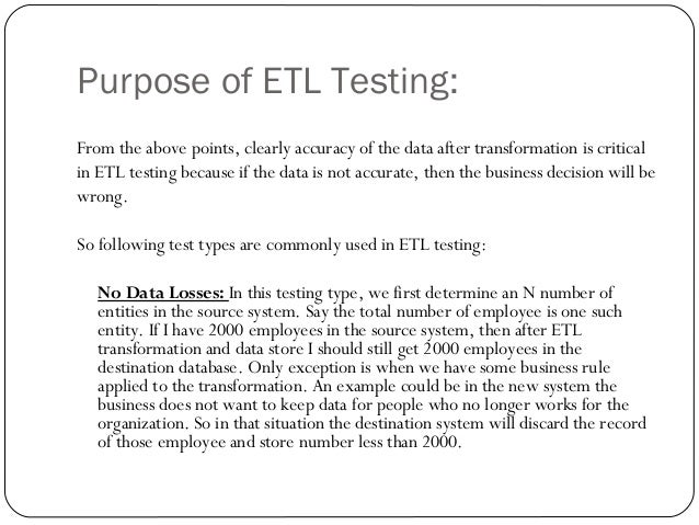 Etl Testing Training Presentation