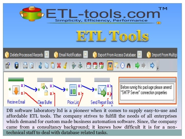 DB software laboratory ltd is a pioneer when it comes to supply easy-to-use and affordable ETL tools. The company strives ...