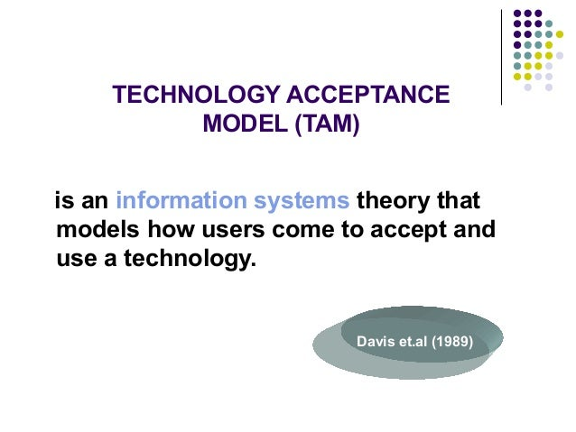 dissertation technology acceptance model In 1985, fred davis proposed the technology acceptance model (tam) in his  doctoral thesis at the mit sloan school of management ( davis, 1986 .