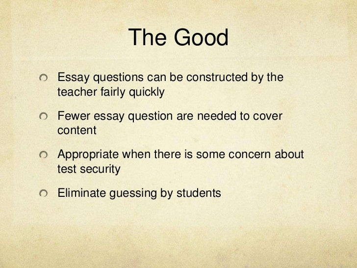 instruction and assessment essay L e a r n i n g , teaching and assessment: a gu ide to good pra ctice for staff   when essay answers are given, remember that students may be writing in their.