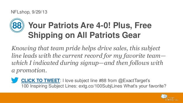 NFLshop, 9/29/13  88 Your Patriots Are 4-0! Plus, Free Shipping on All Patriots Gear Knowing that team pride helps drive s...