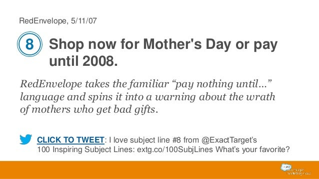 """RedEnvelope, 5/11/07  8 Shop now for Mother's Day or pay until 2008. RedEnvelope takes the familiar """"pay nothing until…"""" l..."""