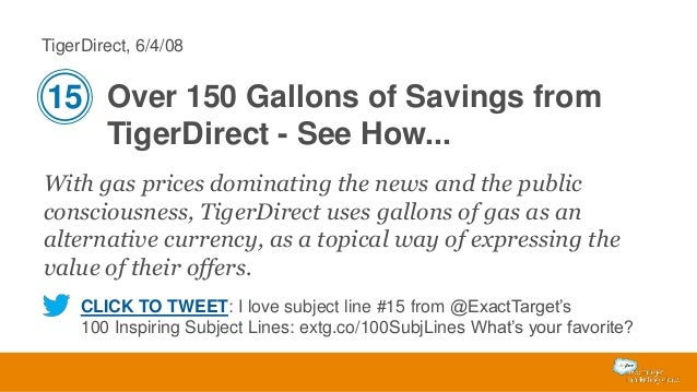 TigerDirect, 6/4/08  15 Over 150 Gallons of Savings from TigerDirect - See How... With gas prices dominating the news and ...
