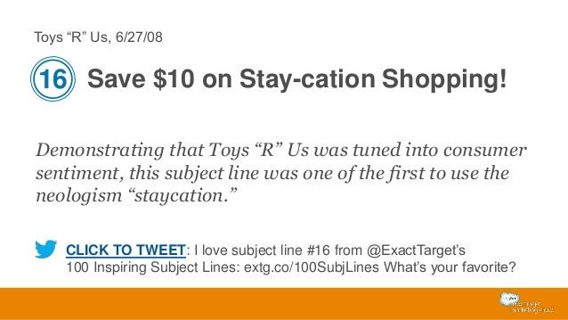 """Toys """"R"""" Us, 6/27/08  16 Save $10 on Stay-cation Shopping! Demonstrating that Toys """"R"""" Us was tuned into consumer sentimen..."""