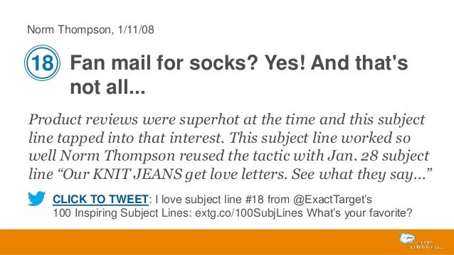 Norm Thompson, 1/11/08  18 Fan mail for socks? Yes! And that's not all... Product reviews were superhot at the time and th...