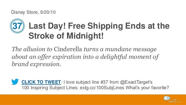 Disney Store, 9/20/10  37 Last Day! Free Shipping Ends at the Stroke of Midnight! The allusion to Cinderella turns a munda...