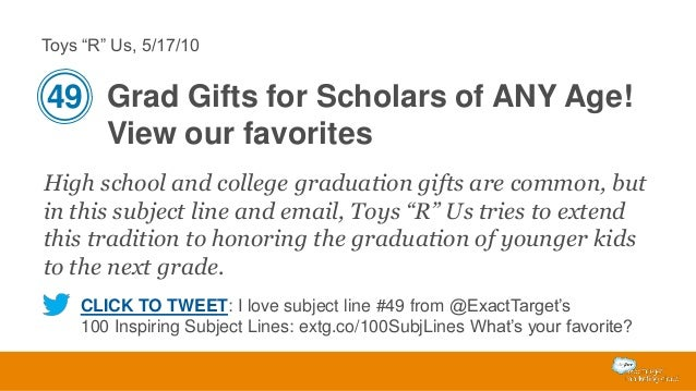 "Toys ""R"" Us, 5/17/10  49 Grad Gifts for Scholars of ANY Age! View our favorites High school and college graduation gifts a..."